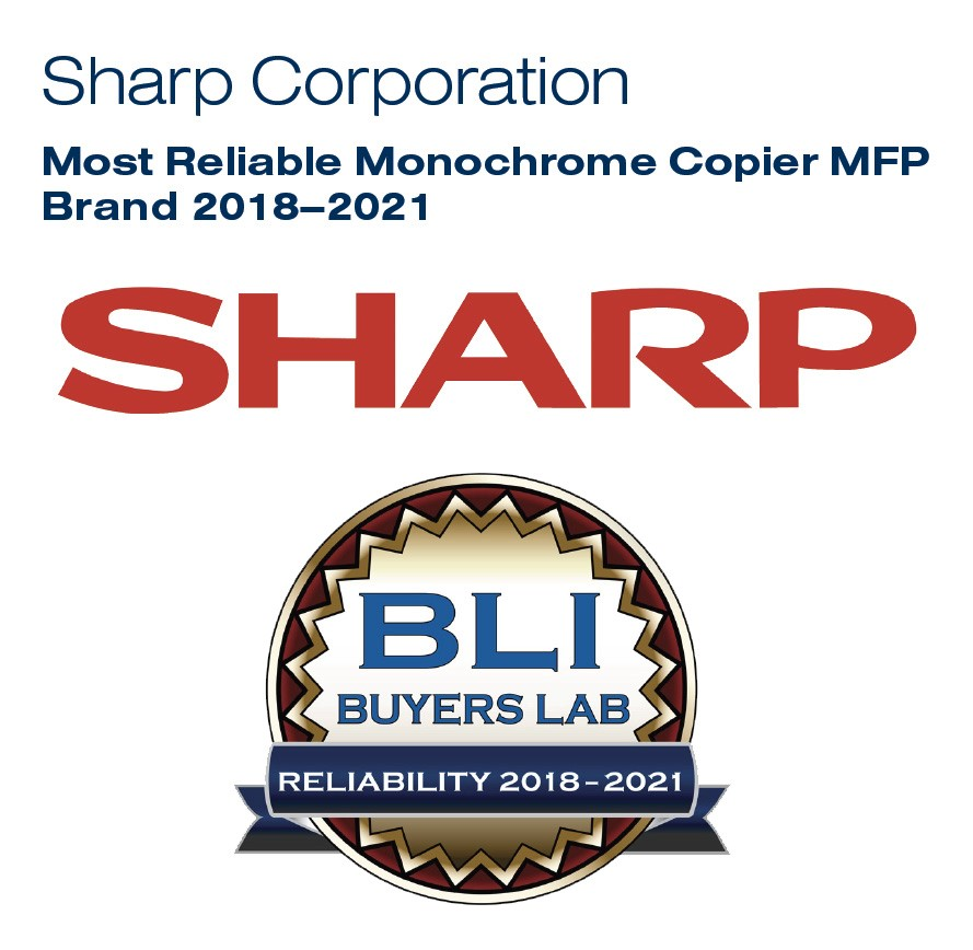 Sharp Awarded Most Reliable Mono Photocopier Range