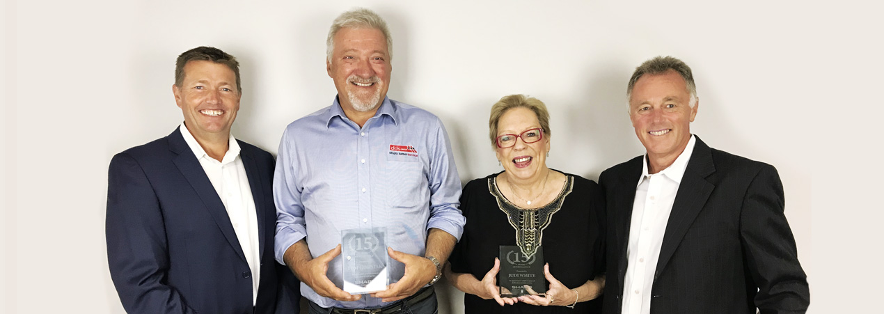Celebrating 15 years of Excellence - Staff Anniversaries - Judi & Tom