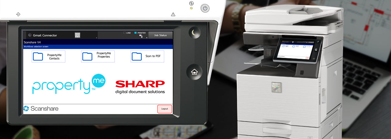 Property Me Integration with Sharp Photocopiers