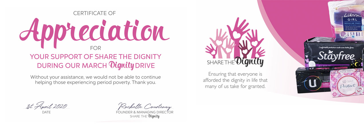 Share The Dignity - DDS Community Involvement