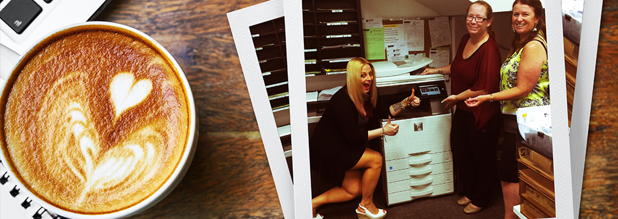 Cool Clients - Tile Fusion enjoying their new Sharp Photocopier